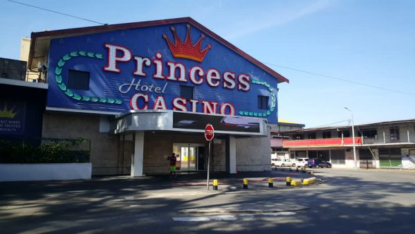 Entrance of the Princess Casino in Paramaribo, Suriname