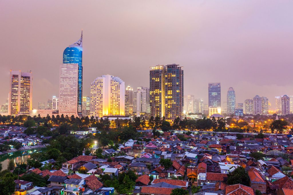 View of Jakarta, the capital of Indonesia