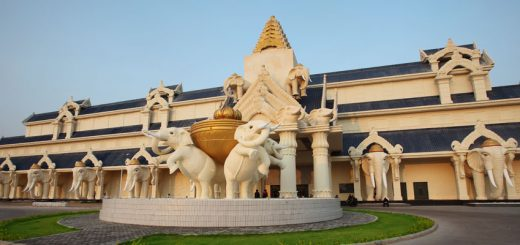 Facade of the Savan Vegas, located in a Special Economic Zone of Laos