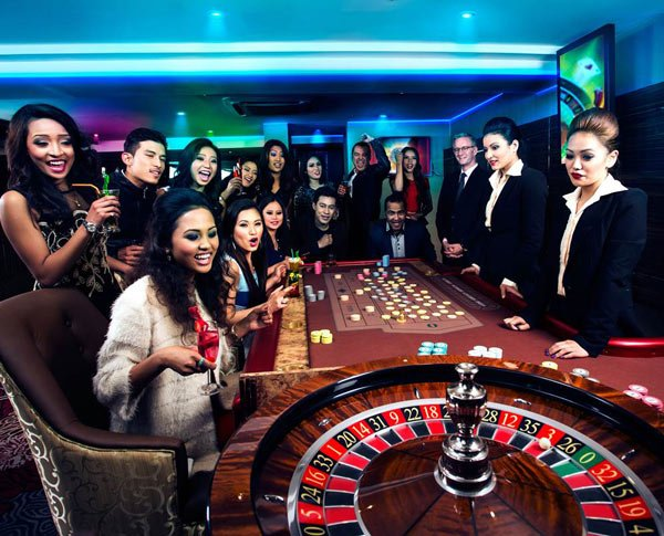 Roulette wheel in the Millionaire's Club and Casino in Kathmandu, Nepal