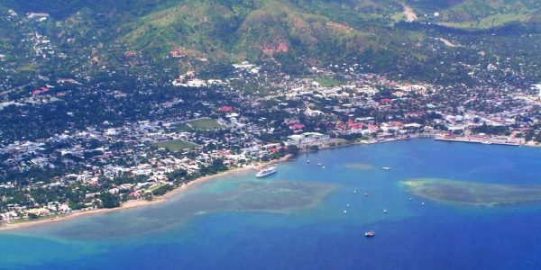 Aerial view of Dili, the capital of East Timor