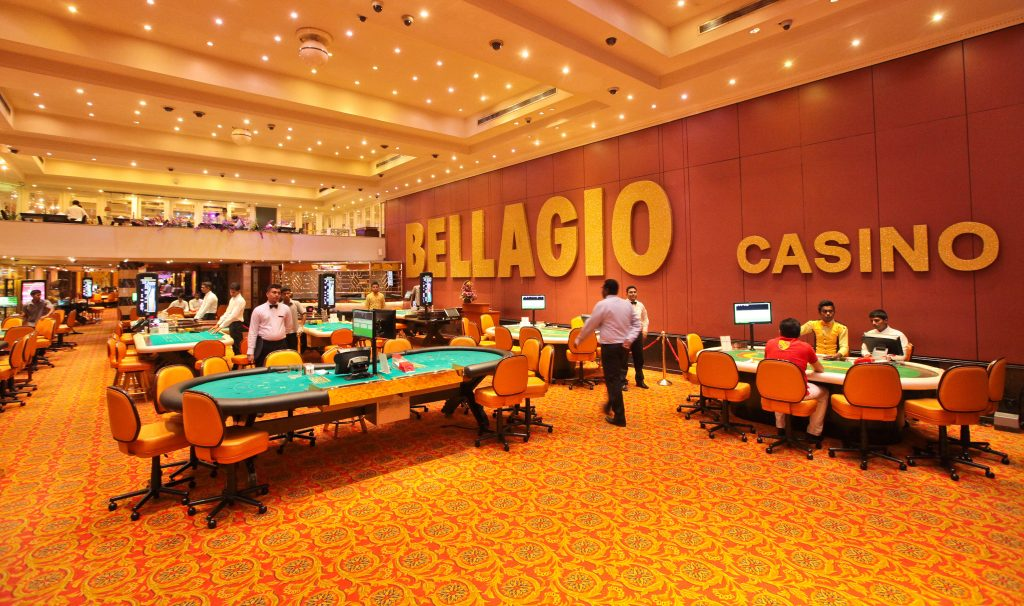 Gaming tables in the Bellagio Casino in Colombus, Sri Lanka