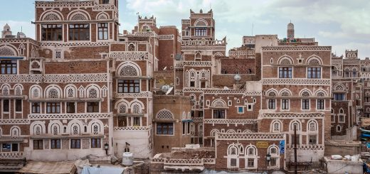 Buildings in Sana'a, the capital of Yemen