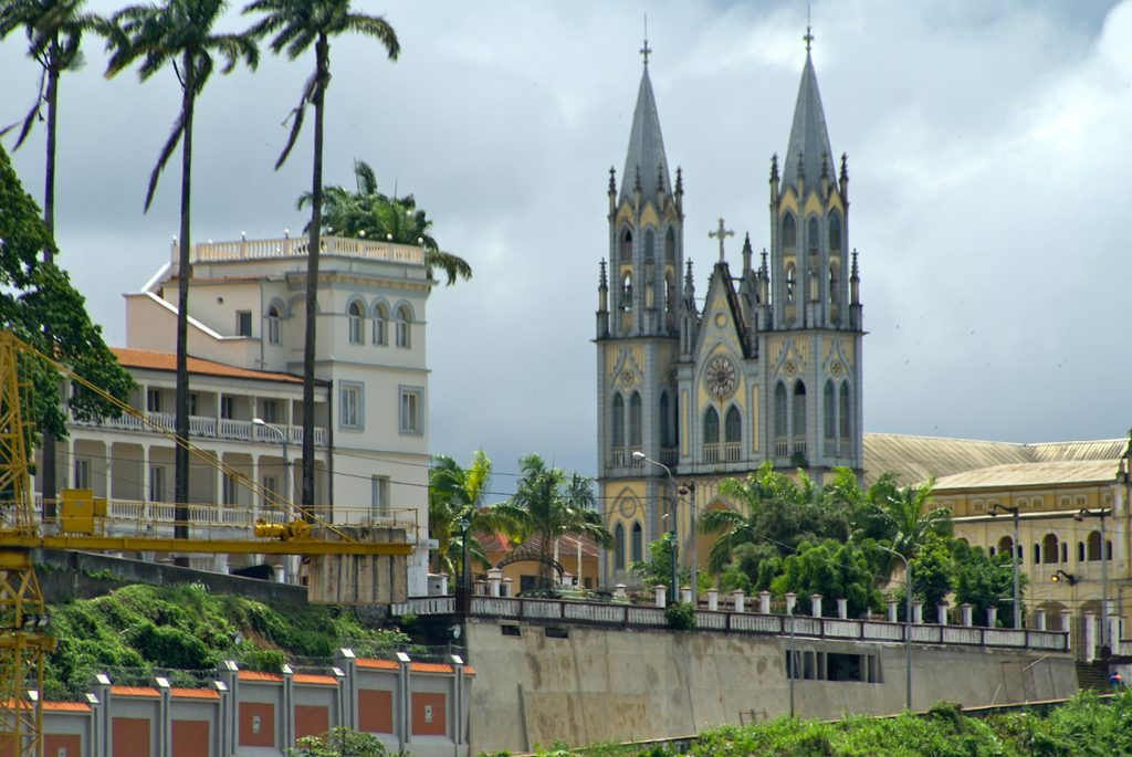 View fro the port in Malabo, the capital of Equatorial Guinea