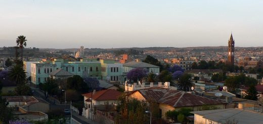 View of Asmara, the capital of Eritrea
