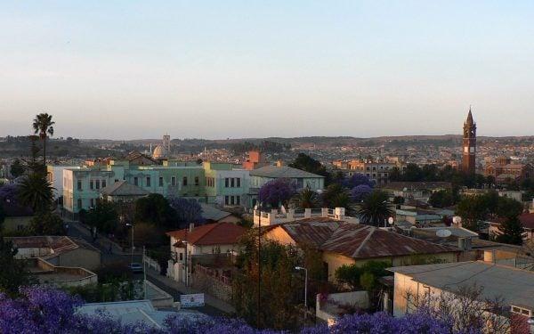 View of Asmara, the capital of Eritrea