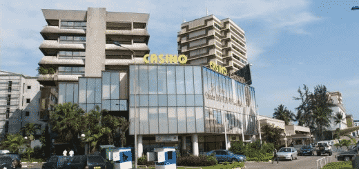 Facade of the Casino Croisette in Gabon