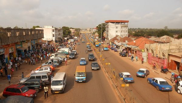 Road in Bissau, the capital of Guinea-Bissau