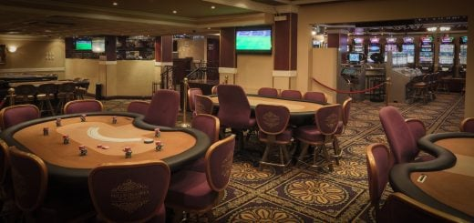 Gaming tables in the Millionaires Casino in Ghana