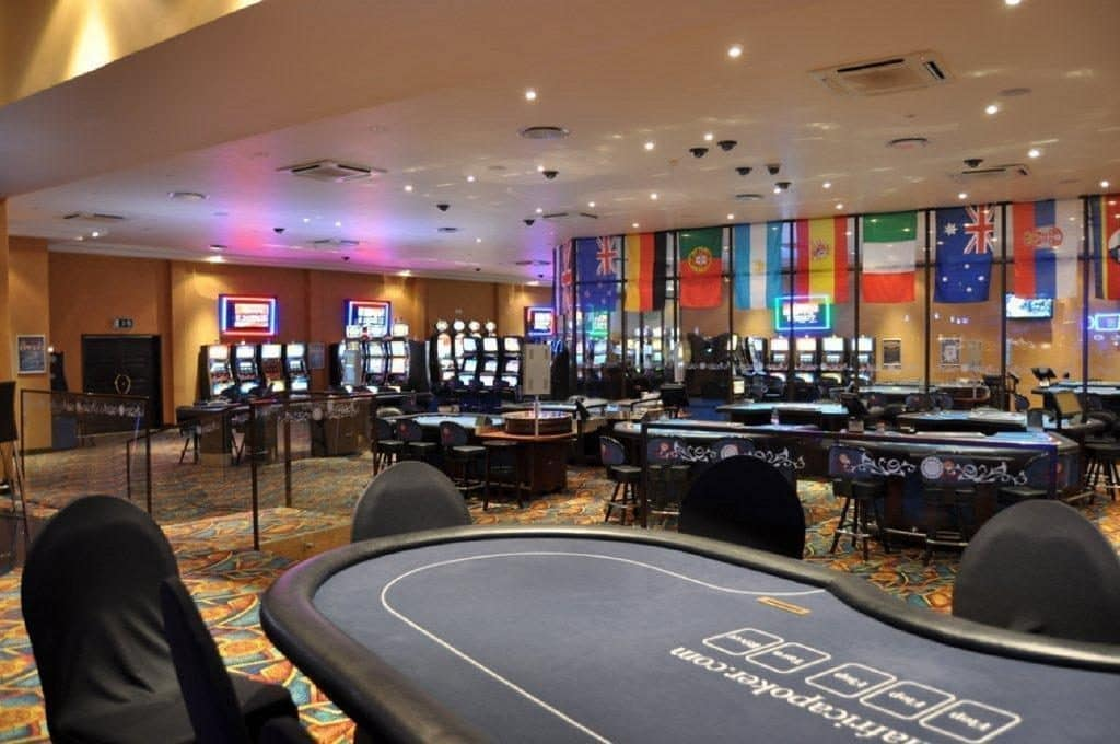gaming tables in the Happy Valley Casino in Swaziland