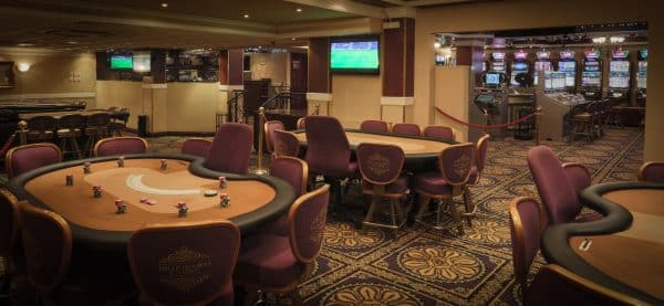 Gaming tables in the Millionaires Casino in Lusaka, Zambia