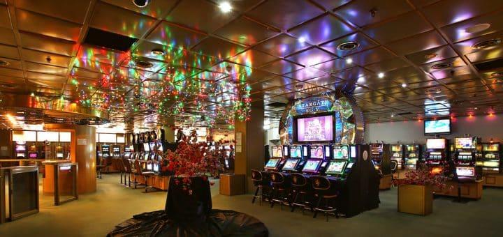 Slot machines in the Casino Regency in Zimbabwe, Harare