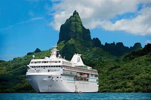 Casino cruise ship Paul Gauguin in Tahiti, French polynesia