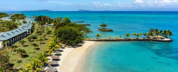 beach of the Whitesands Casino Apia in Samoa