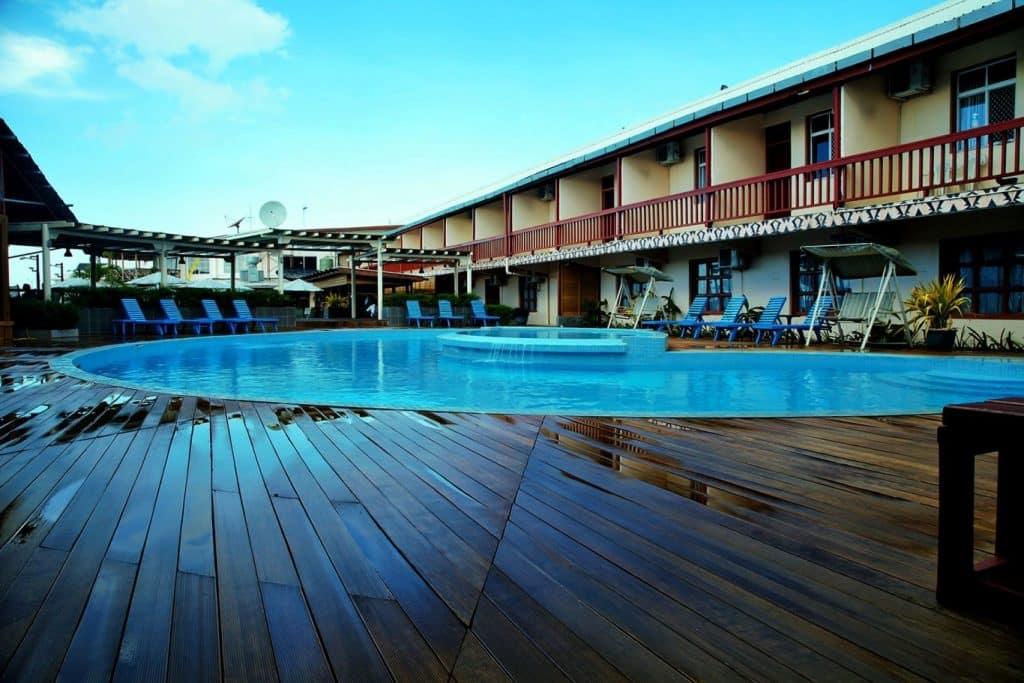 Pool of the Pacific Casino Hotel in the Solomon Islands