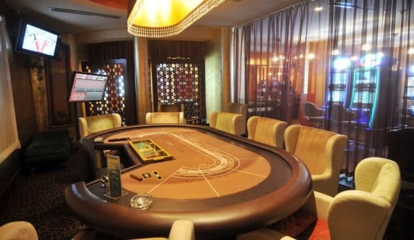 Gaming table in the Grand Hotel and Casino