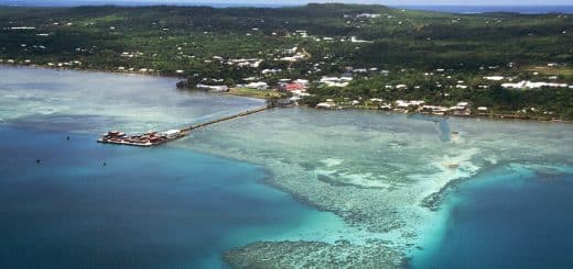 View of Mata Utu, the capital of Wallis and Futuna