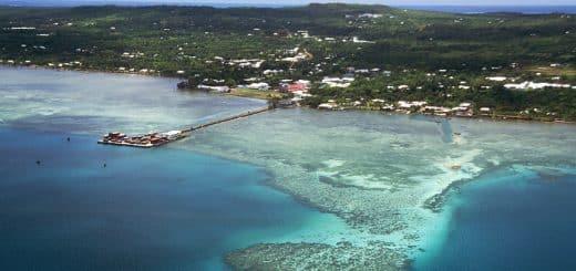 View of Mata Utu, the capital of Wallis and Futuna