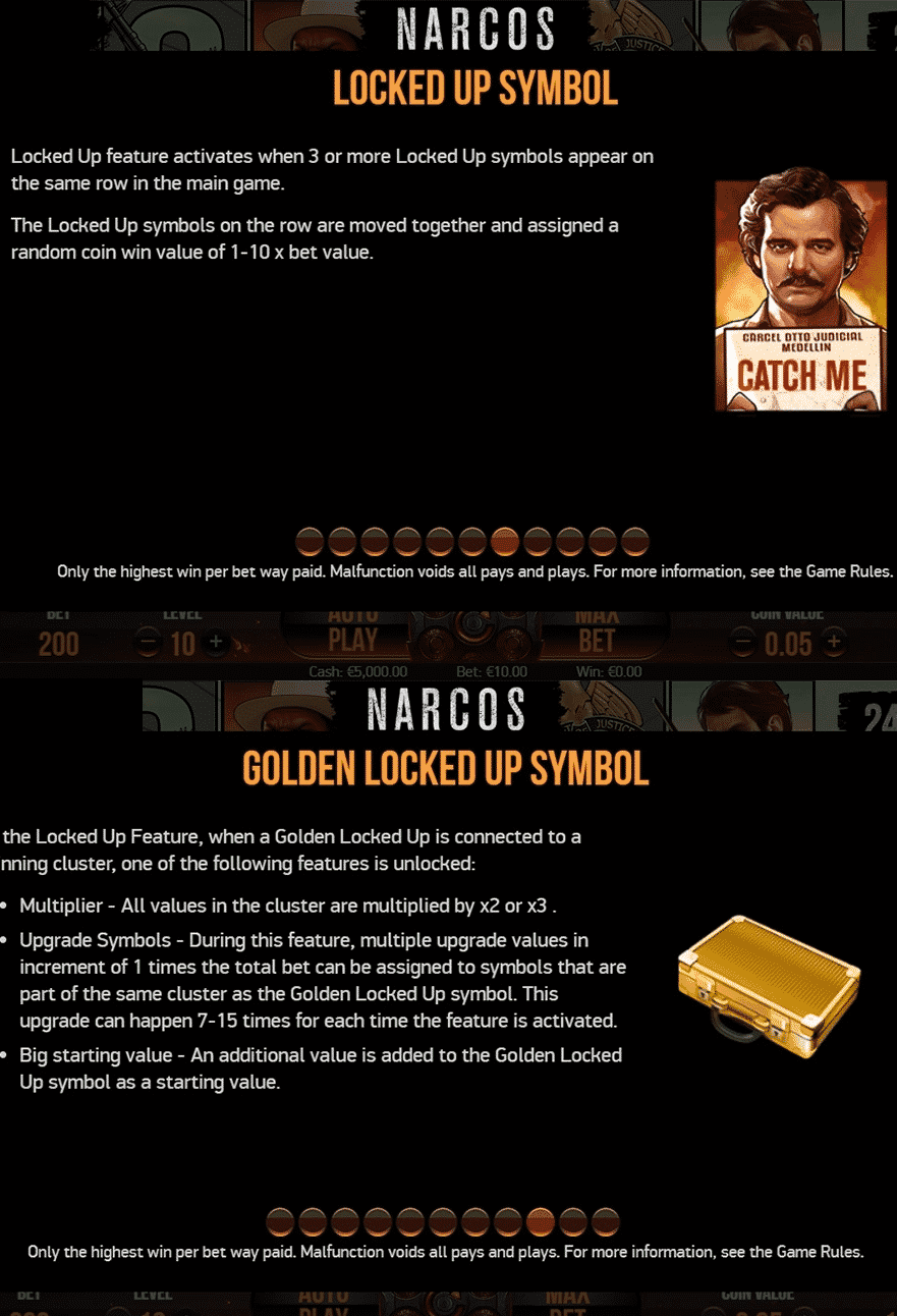 This is a screencap from the game, explaining in detail the locked up and golden locked up feature. Essentially this is an in-game tutorial.