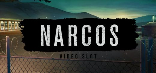 This is the header image of the Narcos slot page. ON this page you can play the video pokies machine online.