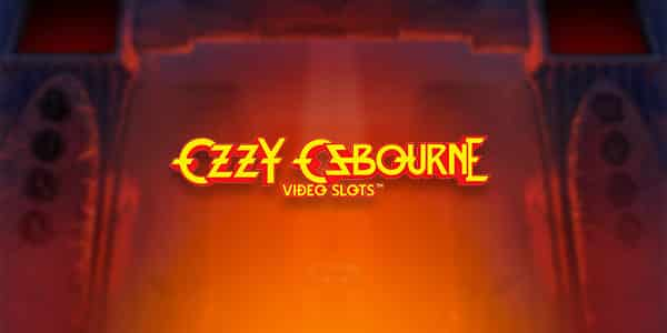 This is the eader image of the webpage, where you can play the Ozzy Osbourne casino game. The picture consist of the stylized name of Ozzy Osbourne a.k.a. Prince of Darkness written the same as his band Black Sabbath. usually writes it, same style of letters, same lithography.