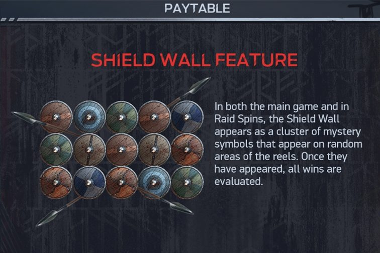 This is a screencap from the lost game, which explains the shield wall bonus feature.