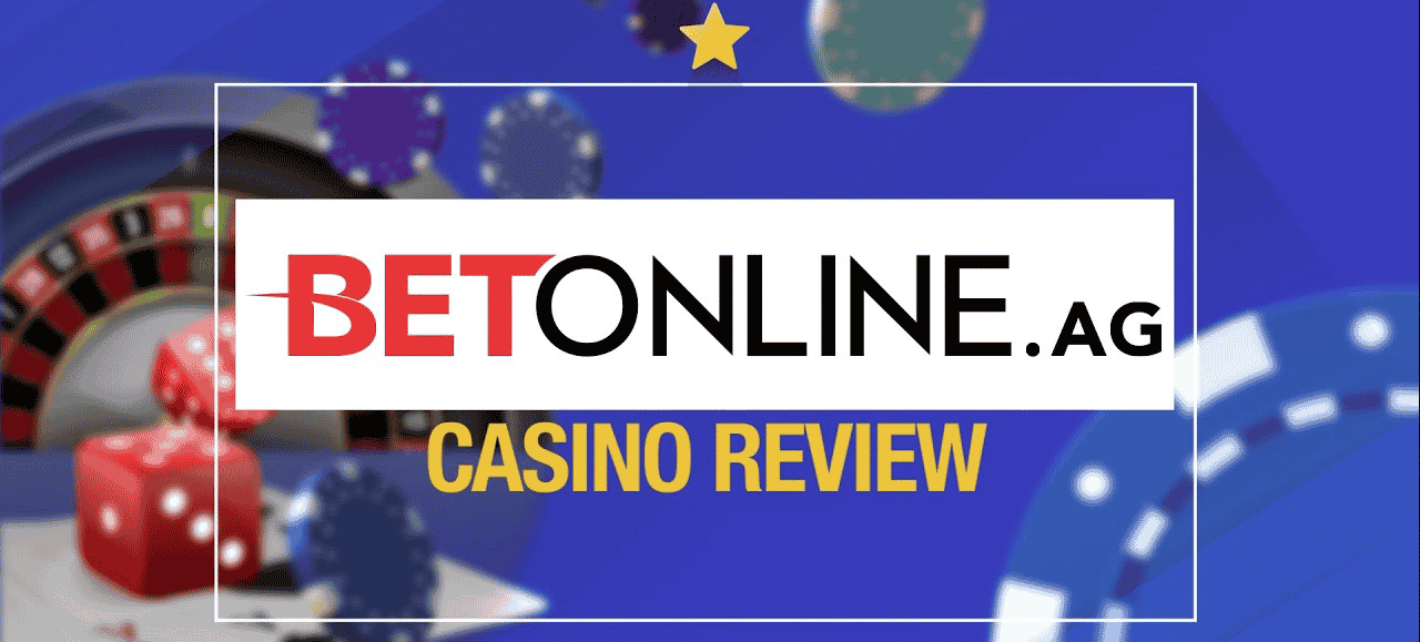 """This is the official logo of BetOnline online gambling platform. The picture consists of the word """"BetOnline.ag"""" over a white background (this is a URL of the gambling website). """"Bet"""" is written in red and """"Online"""" is written in black bold letters. This is also the logo of the company, used with permission. On this page you can read the review of BetOnline casino."""
