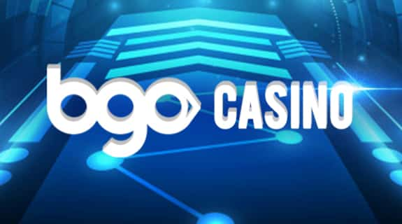 This is one variant of the logo of bgo casino, bingo and virtual sports betting platform. The digital image consist of the words 'bgo CASINO' written in white letters over a blue background. On this page you can read a review and analysis of the bgo mobile casino website.