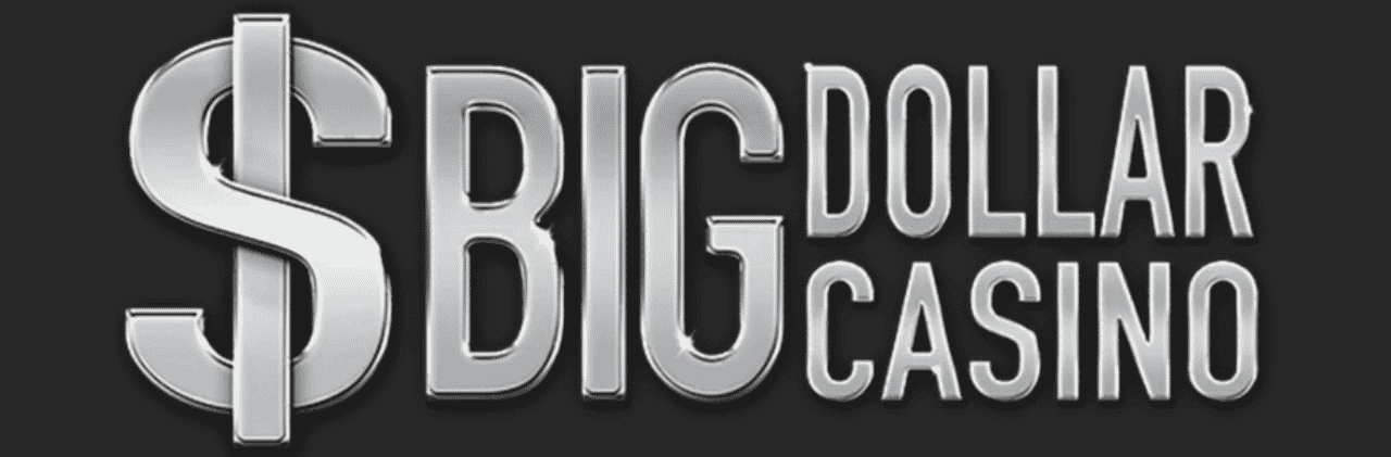 """This is the official logo of Big Dollar Casino, a digital gambling website, part of the Genesys Group. The picture consist of the words """"Big Dollar Casino"""" and a grey, metallic dollar sign, over a black/grayish background. On this page, under the picture, you can read the detail review and analysis of Big Dollar Casino, including their recent scam and scandal, when they started stealing money from their players and affiliate partners. avoid this rouge internet casino site."""