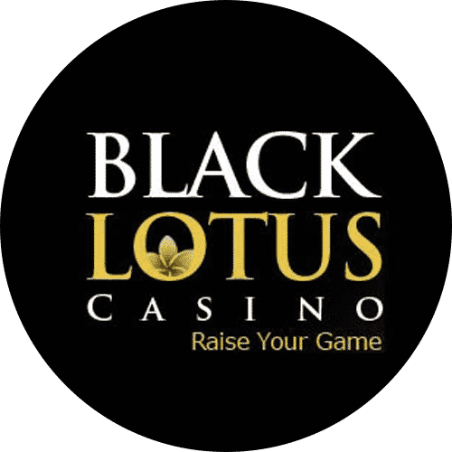 "This is the official logo of Black Lotus Casino an online gambling website, used with permission. The digital image consist of the black and gold letters ""Black Lotus Casino Raise your Game"" over a black background (the background is a black circle). Raise your game is the slogan of this Genesys Technologies casino. You can read the review of this online casino under the picture."