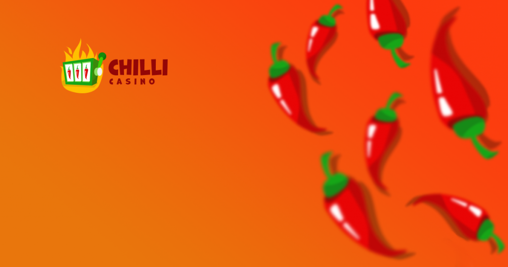This is a header image with the logo and colours and symbols of Chili casino. This is the casino review's header image, you can read the casino's review under this.