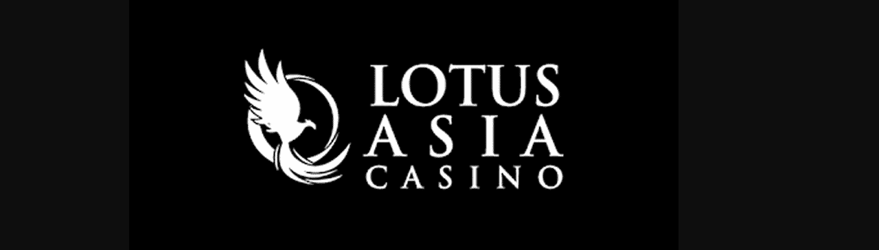 """This is the header image of the Lotus Asia Casino review. The picture consist of the words """"Lotus Asia Casino"""" in white letters over a black background. There is also the symbol of the casino on the picture, on the left, which is a phoenix. On this page, under the picture, you can read the review of the Lotus Asia Casino, and an explanation why it is a scam, and why you shouldn't play in this digital casino."""