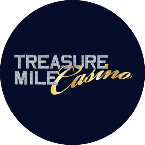 This is the round logo of Treasure Mile casino. You can read the review of the gambling website tresuremile.com on this website.
