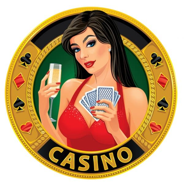 """This is a picture of a cartoon woman on a gaolden coin, which says """"casino"""". You can read about a winning gambling strategy on this page."""