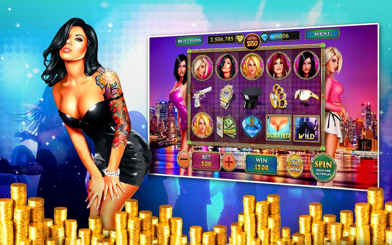 This is a picture of a sexy, attractive black haired woman next to a video slot and a bunch of coins, money stacked. Under the picture you can read about methods, ways, techniques on how to make money gambling, how to win always in casinos.