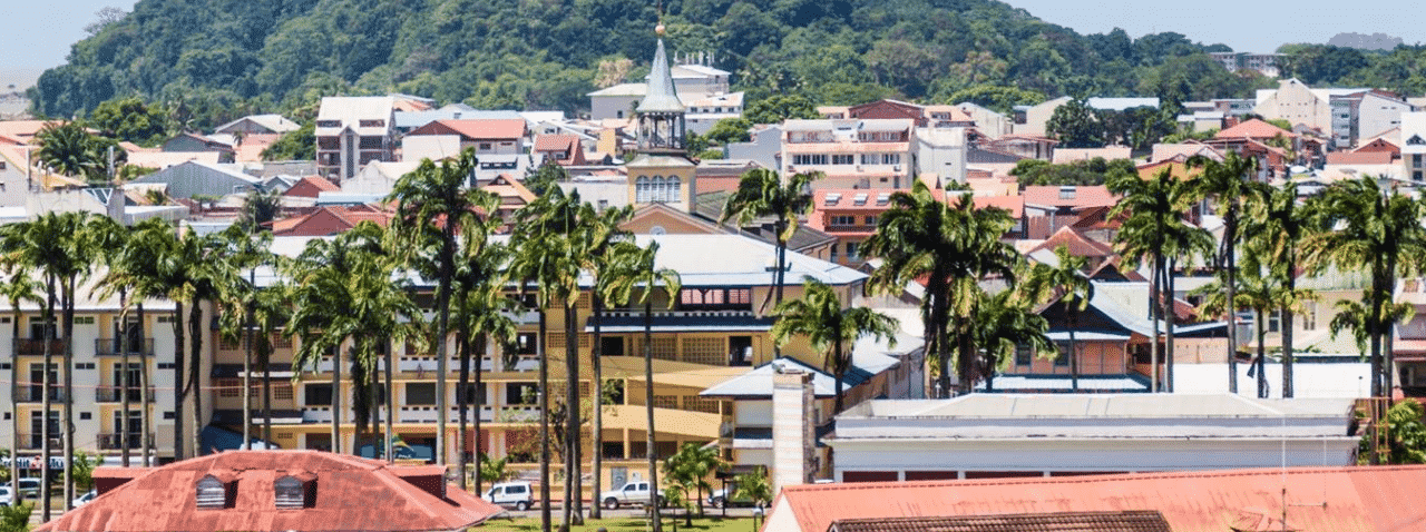 This is a cityscape of Cayenne, the capital of French Guiana. On this page you can read about the casino gambling legislation effecting France and its overseas territories and you can find a list of brick and mortar casinos and licensed internet casino accepting players from French Guiana.