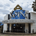 This is a picture of the building and front gate of Hotel Casino Acaray in Ciudad del Este, Paraguay. To the right of the picture you can read more about this casino.