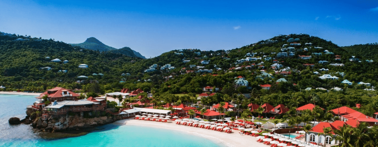 This is a picture of the building and beach of Eden Rock Luxury Hotel. in the Collectivité territoriale de Saint-Barthélemy. On this page you can read about the taxation, legislation, licensing of casino gambling on the island, and you can find a list of licensed casino gambling establishments, slot halls and online casinos, which accept players from the St. Barths.